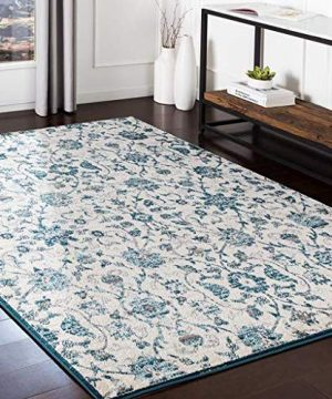 Leonore Updated Moroccan Farmhouse 2 X 3 Rectangle Updated Traditional 100 Polypropylene TealPale BlueMedium GrayLight GrayCamelWhite Area Rug 0 300x360