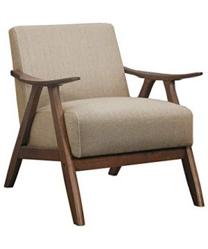 Lexicon Fabric Accent Chair Brown 0 300x360