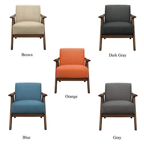 Lexicon Fabric Accent Chair Brown Farmhouse Goals