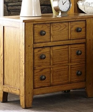 Liberty Furniture Grandpas Cabin Drawer Night Stand 27 X 17 X 27 Aged Oak 0 300x360