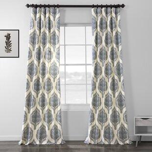 Lunaire_Damask_Room_Darkening_Rod_Pocket_Single_Curtain_Panel