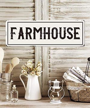 Large Metal Farmhouse Sign Waterproof Farmhouse Kitchen Wall Decor Vintage Wall Art Sign For Farmhouse Horizontal 24 X 8 Farmhouse Goals