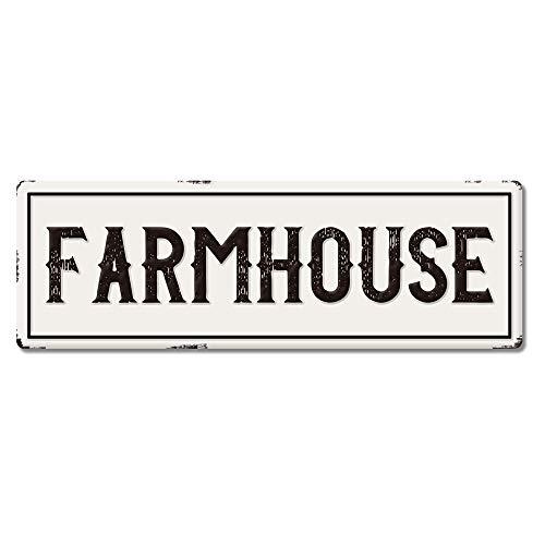 Large Metal Farmhouse Sign Waterproof Farmhouse Kitchen Wall Decor Vintage Wall Art Sign For Farmhouse Horizontal 24 X 8 Farmhouse Goals