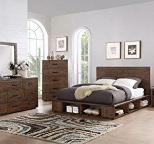Manja C King Bed Nightstand Dresser Mirror Rustic Espresso Pine 0 300x281