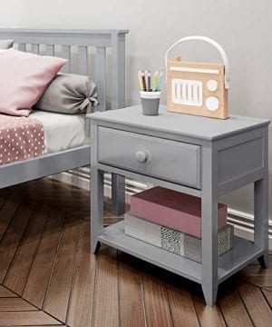 Max Lily Solid Wood Nightstand Grey 0 300x360