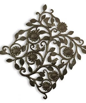 Metal Birds Wall Decor Haitian Metal Art Tree Of Life Recycled Oil Drum Peaceful Home 145 X 145 Inches Bird Party 0 300x360