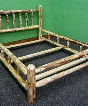 Midwest Log Furniture Rustic Log Bedroom Suite King 5pc 0 0 300x360