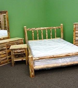 Midwest Log Furniture Rustic Log Bedroom Suite King 5pc 0 300x337