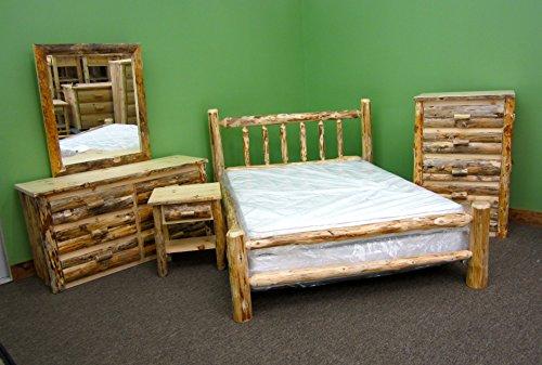 Midwest Log Furniture Rustic Log Bedroom Suite King 5pc 0
