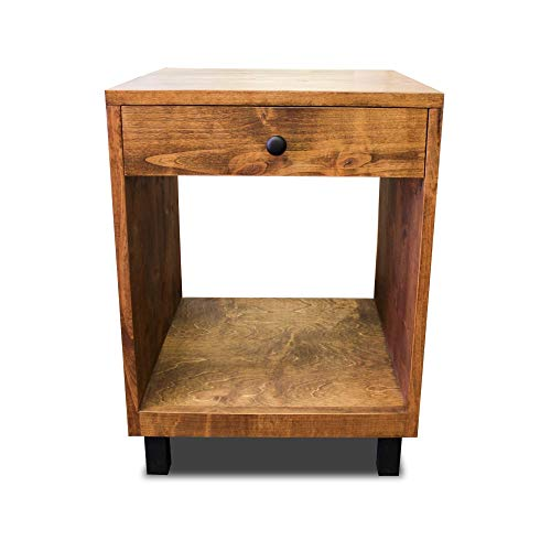 Modern And Rustic Nightstand 0