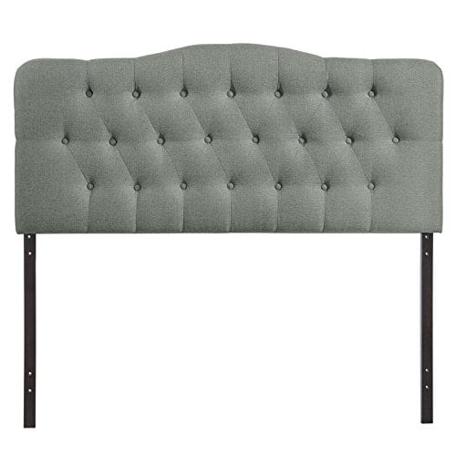 Modway Annabel Tufted Button Linen Fabric Upholstered King Headboard In Gray 0 0