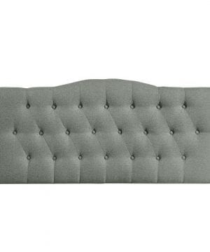 Modway Annabel Tufted Button Linen Fabric Upholstered King Headboard In Gray 0 1 300x360