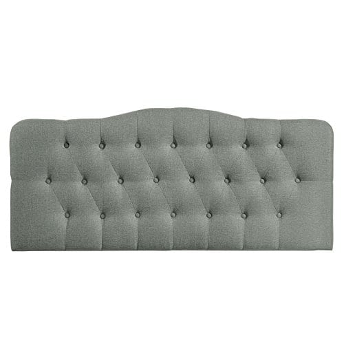 Modway Annabel Tufted Button Linen Fabric Upholstered King Headboard In Gray 0 1