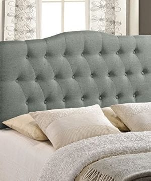 Modway Annabel Tufted Button Linen Fabric Upholstered King Headboard In Gray 0 2 300x360