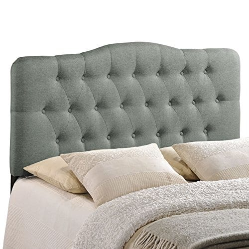 Modway Annabel Tufted Button Linen Fabric Upholstered King Headboard In Gray 0