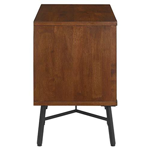 Modway Arwen Rustic Modern Wood 2 Drawer Bedroom Nightstand In Walnut 0 0