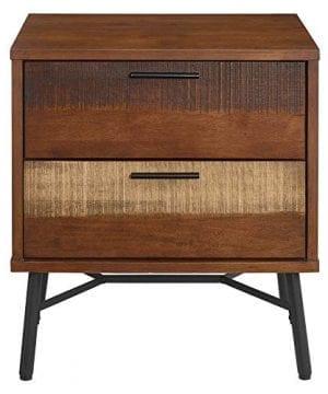 Modway Arwen Rustic Modern Wood 2 Drawer Bedroom Nightstand In Walnut 0 1 300x360