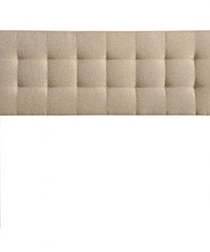 Modway Lily Tufted Linen Fabric Upholstered Queen Headboard In Beige 0 300x360