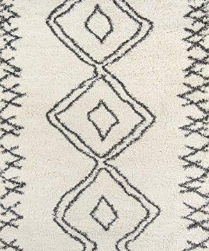 Momeni Rugs Maya Collection Ultra Thick Pile Shag Area Rug 2 X 3 Ivory 0 300x360