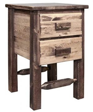 Montana Woodworks Homestead Collection Nightstand Stain Clear Lacquer Finish 0 300x360