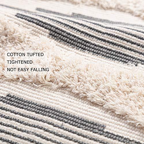 Moroccan Bathroom Rugs Small Fringe Rug Tribal Rug 2x3 Woven Boho Bath Mat Tassels 0 1