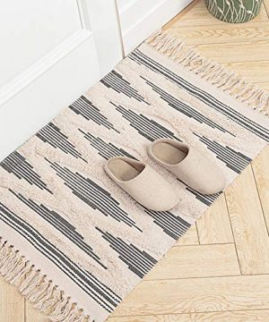 Moroccan Bathroom Rugs Small Fringe Rug Tribal Rug 2x3 Woven Boho Bath Mat Tassels 0 300x360