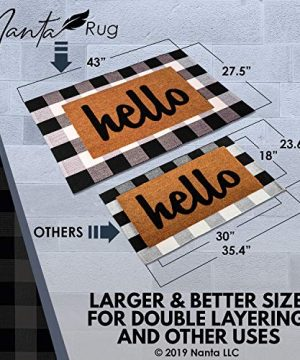 NANTA Cotton Buffalo Plaid Check Rug 275 X 43 Inches Washable Woven Outdoor Rugs For Layered Door Mats PorchKitchenFarmhouse Black And White 0 1 300x360