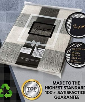 NANTA Cotton Buffalo Plaid Check Rug 275 X 43 Inches Washable Woven Outdoor Rugs For Layered Door Mats PorchKitchenFarmhouse Black And White 0 3 300x360