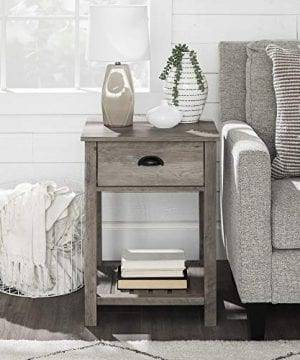 New 18 Inch Farmhouse 1 Drawer Nightstand With Grey Wash Finish 0 300x360