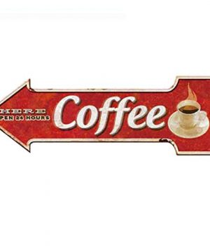 Ochoice Coffee Signs Arrow Metal Signs For Wall Decoration 0 300x360