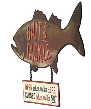 Open Road Brands Fish Bait And Tackle CloseOpen Rustic Tin Metal Wall Art An Officially Licensed Product Great Addition To Add What You Love To Your HomeGarage Decor 0 0 300x360