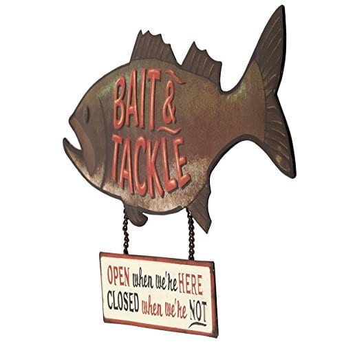 Open Road Brands Fish Bait And Tackle CloseOpen Rustic Tin Metal Wall Art An Officially Licensed Product Great Addition To Add What You Love To Your HomeGarage Decor 0 0