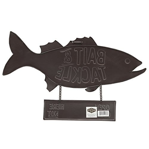 Open Road Brands Fish Bait And Tackle CloseOpen Rustic Tin Metal Wall Art An Officially Licensed Product Great Addition To Add What You Love To Your HomeGarage Decor 0 1