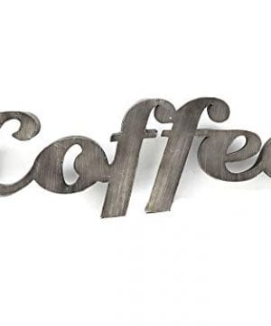 Parisloft 3D Coffee Cutout Lettering Metal Wall Hanging Sign DecorVintage Farmhouse Decor KitchenCoffee Bar Office335x12x98 Inches 0 300x360