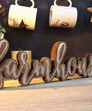 Parisloft Rustic Farmhouse Script Cutout Table Top Freestanding Sign 3D Farmhouse Word Art Accent Decor 1575x1x525 0 1 300x360