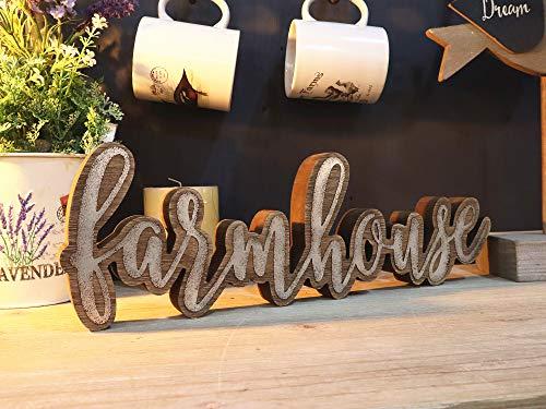 Parisloft Rustic Farmhouse Script Cutout Table Top Freestanding Sign 3D Farmhouse Word Art Accent Decor 1575x1x525 0 1