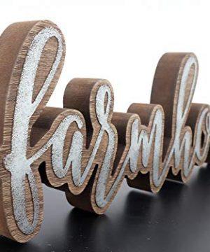 Parisloft Rustic Farmhouse Script Cutout Table Top Freestanding Sign 3D Farmhouse Word Art Accent Decor 1575x1x525 0 4 300x360