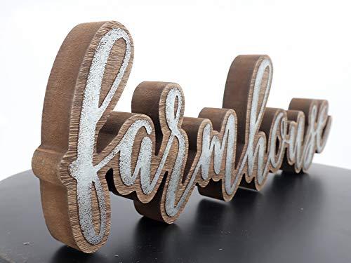 Parisloft Rustic Farmhouse Script Cutout Table Top Freestanding Sign 3D Farmhouse Word Art Accent Decor 1575x1x525 0 4