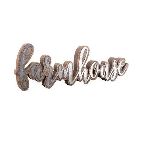 Parisloft Rustic Farmhouse Script Cutout Table Top Freestanding Sign 3D Farmhouse Word Art Accent Decor 1575x1x525 0