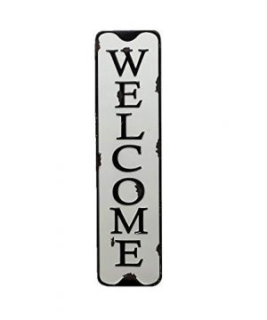 Parisloft Welcome Carved Metal Wall Sign For Home DecorRustic Iron Welcome Decor For Entryway 55x216 0 300x360