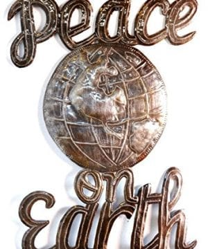 Peace On Earth Wall Sign Haitian Steel Drum Art 14 In X 17 In 0 300x360