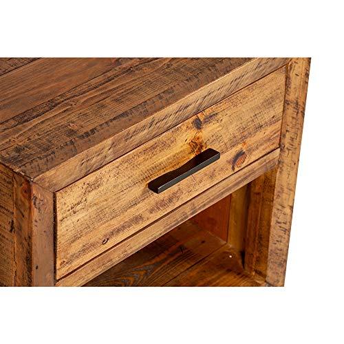 Reclaimed Pine One Drawer Nightstand 0 1