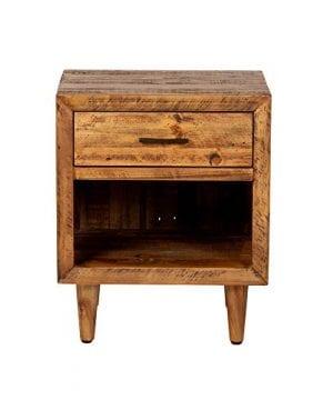 Reclaimed Pine One Drawer Nightstand 0 2 300x360