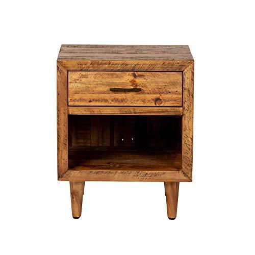 Reclaimed Pine One Drawer Nightstand 0 2
