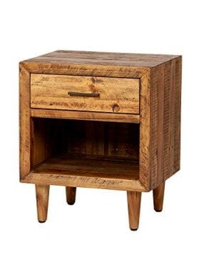 Reclaimed Pine One Drawer Nightstand 0 300x360