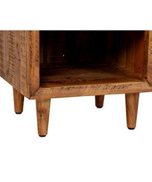Reclaimed Pine One Drawer Nightstand Brown Farmhouse Mid Century Modern Wood Antique Handmade 0 1 300x360
