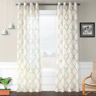 Romane_Geometric_Sheer_Grommet_Single_Curtain_Panel