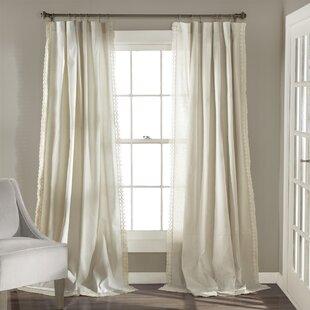 Rosanne Solid Semi Sheer Rod Pocket Curtain Panels 28Set Of 2 29