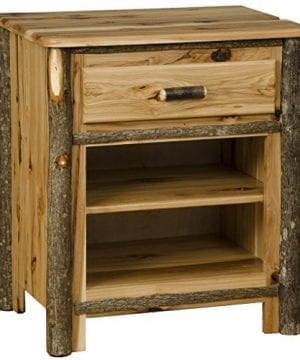 Rustic Hickory 1 Drawer And 1 Shelf Nightstand 0 300x360