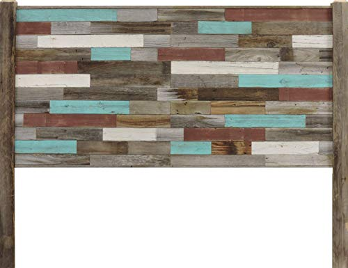 Rustic King Size Panel Head Board Reclaimed Barn Wood Frame Real Weathered Rustic Bedroom Western Furniture Decorative Decor Style Distressed Modern Industrial Country Accent With Legs 0